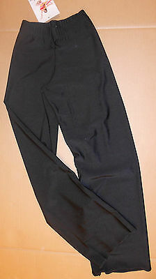 NWT Bal Togs Lycra Jazz Pants Black girls (or boys) straight leg Dance $26retail