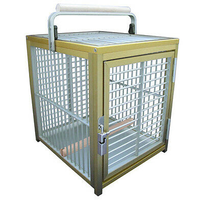 ALUMINUM PET TRAVEL CAGE ATT 1214 bird silv toy toys cockatiel dog cat rabbit