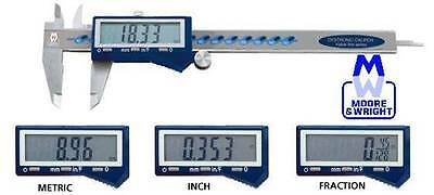 """Moore And Wright 0-6"""" / 0-150Mm / Fraction Digitronic Caliper Mw110-15Dfc Myford"""