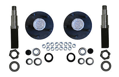 Build Your Own Trailer Axle Kit 3500# Square Spindle Idler Hub Camper RV 5x4.5