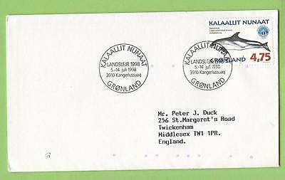 Greenland 1998 4.75 Whale stamp on cover to England