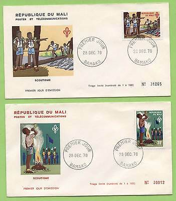 Mali 1970 Scouts on two First day Covers