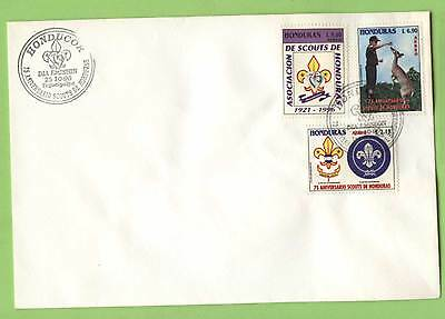 Honduras 1996 Scouts set on First Day Cover