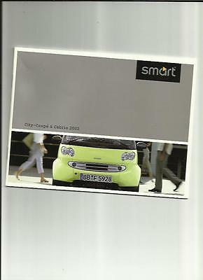 Smart City-Cabrio City-Coupe Pure Pulse & Passion Sales Brochure 2002  French
