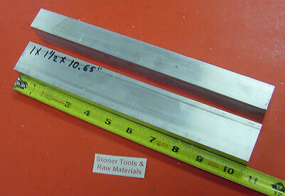 "2 Pieces 1"" X 1-1/2"" ALUMINUM 6061 T6 RECTANGLE BAR 10.65"" long Solid Mill Stock"
