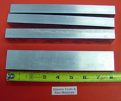 "4 Pieces 3/4"" X 1-1/2"" ALUMINUM 6061 FLAT BAR 8"" long .750"" T6511 NEW Mill Stock"