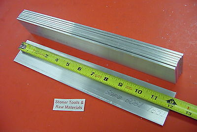 "8 Pieces 1/8"" X 2"" ALUMINUM 6061 FLAT BAR 12"" long .125"" T6511 Plate Mill Stock"