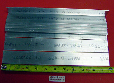 "8 Pieces 1/8"" X 1-1/2"" ALUMINUM 6061 FLAT BAR 12"" long .125"" Plate Mill Stock"