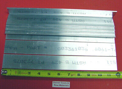 "6 Pieces 1/8"" X 1-1/2"" ALUMINUM 6061 FLAT BAR 12"" long Plate Mill Stock .125"""