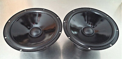 "2PC. Peerless 8"" Hi-End Replacment Woofer Treated Cone"