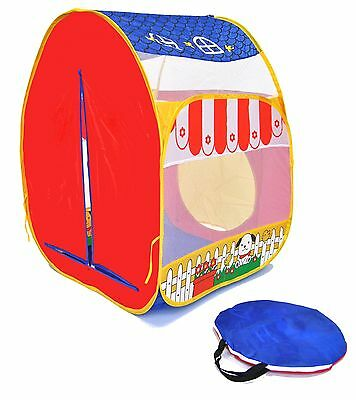 eWW Kids Safety Mesh Portable Indoor Animal Barn Pop Up Children Play Tent House