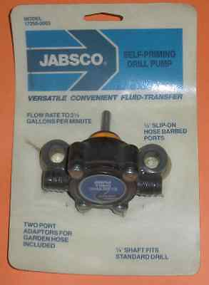 Jabsco 17250-0003 Self-Priming Electric Drill Pump 3175