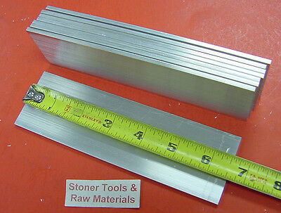 "8 Pieces 1/8"" X 2"" ALUMINUM FLAT BAR 6-1/2"" long 6061 T6511 Mill Stock .125"""