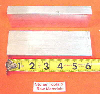 "2 Pieces 3/4"" X 2"" x 6"" ALUMINUM 6061 FLAT BAR .75""x 2"" Solid T6511 Mill Stock"