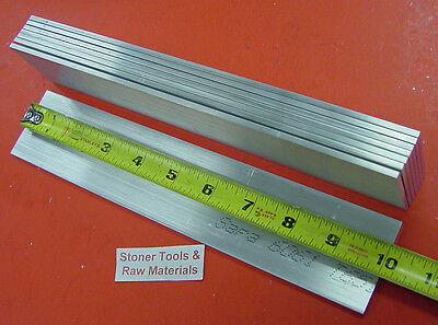 "8 Pieces 1/8"" X 2"" ALUMINUM 6061 FLAT BAR 10"" long .125"" T6511 Plate Mill Stock"