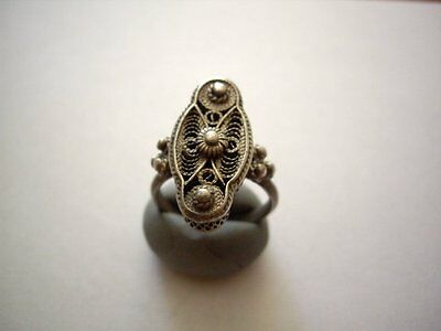 Antique Crusades Era Baldwin's Period Ladies Silver Ring