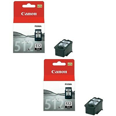 Canon PG512 Ink Cartridge Twin Pack - Black X2  Genuine Canon PG512