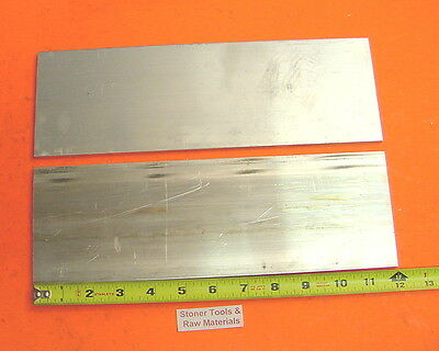 "2 Pieces 1/8"" X 4"" ALUMINUM 6061 FLAT BAR 12"" long .125"" Plate New Mill Stock"