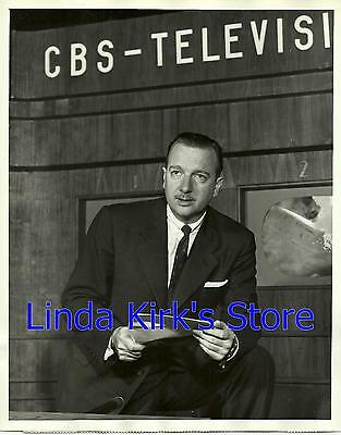 "Walter Cronkite Promotional Photograph ""You Are There"" CBS-TV 1953 - 1957"