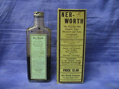Ner-Worth Company Popular Old English Type Rhubarb and Soda Compound