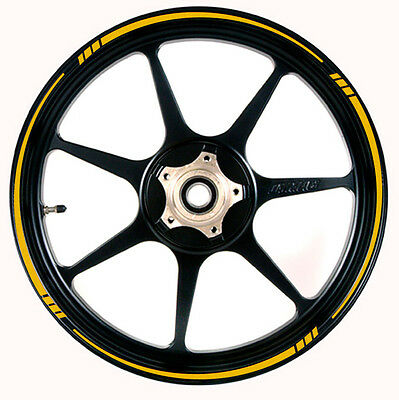 YELLOW Reflective Speed Tapered Wheel Rim Tape Stripe fit  Motorcycles, Cars