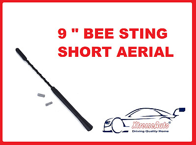 BLACK ALLOY ROOF AERIAL MAST suitable FOR BMW MINI ONE/COOPER