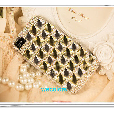 Deluxe Lady Bling Crystal Handmade FULL Diamond Case Cover For Iphone 4 4S 4G