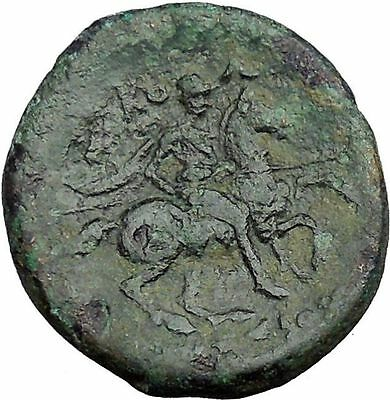 Kolophon in Ionia under magistrate Ikesios 320BC Greek Coin Horse man  i33500