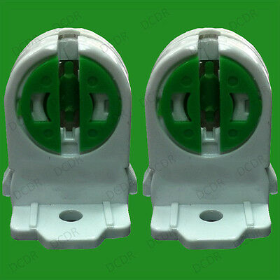 2x T5 Base Fluorescent & LED Tube Lamp Holder Socket Snap-In Or Slide-On Fitting