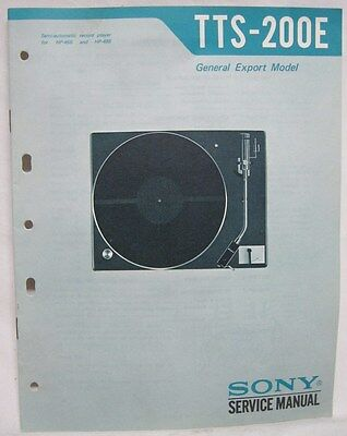 SONY Original SERVICE MANUAL TTS-200E Turntable RECORD CHANGER player