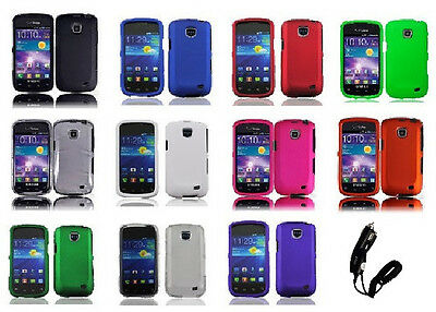 Car Charger + Hard Cover Phone Case for Samsung Galaxy Proclaim S720C SCH-S720C