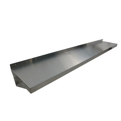 2438mm x 356mm NEW STAINLESS STEEL WALL MOUNTED SHELF SHELVING DISPLAY UNIT