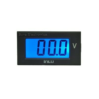 "3 1/2 Mini 0.8"" 3½ DC 200V Blue LCD Digital Volt Panel Meter 9-12V Voltmeter"