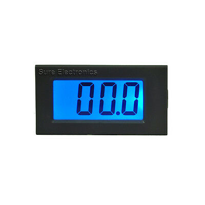 "3 1/2 Mini 0.8"" 3½ DC 30V Blue LCD Digital Volt Panel Meter 9-12V Voltmeter"