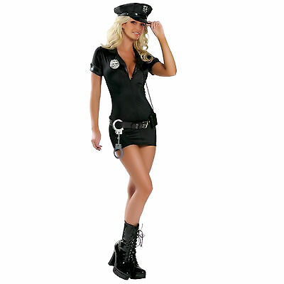 Sexy Police Women Ladies Officer Cop Costume Uniform Fancy Dress Complete Outfit
