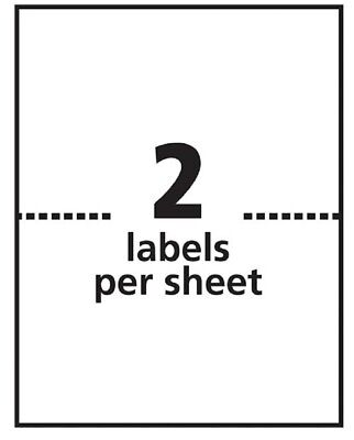 Premium 800 Half Sheet Self Adeshive Labels Laser Printer  8.5 X 5.5 for Ebay