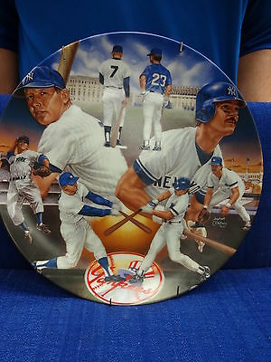 """10.25"""" YANKEE TRADITION MANTLE MATTINGLY SPORTS SUPERSTAR COLLECTOR PLATE SERIES"""