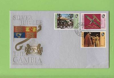 Gambia 1977 Silver Jubilee set on First Day Cover