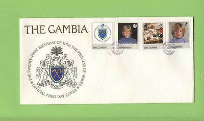 Gambia 1982 Princess Dianas 21st Birthday set on U/A First Day Cover
