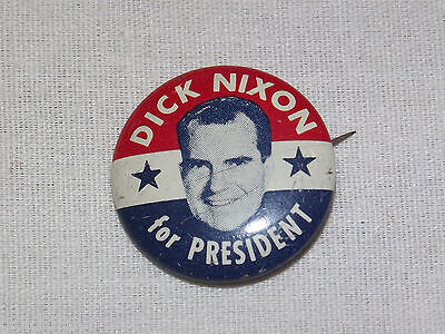 Vintage 1960-70S Dick Richard Nixon For President Campaign  Button