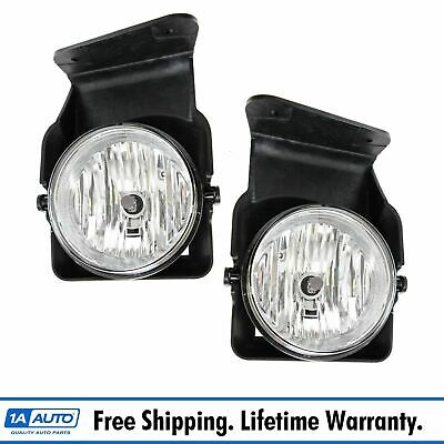 Fog Driving Lights Lamps Left LH /& Right RH Pair Set Kit for 97-01 Jeep Cherokee