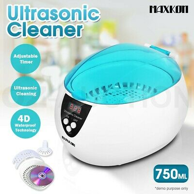 Maxkon Ultrasonic Jewellery Watch Cleaner Digital Multi Purpose Sonic Wave Clean