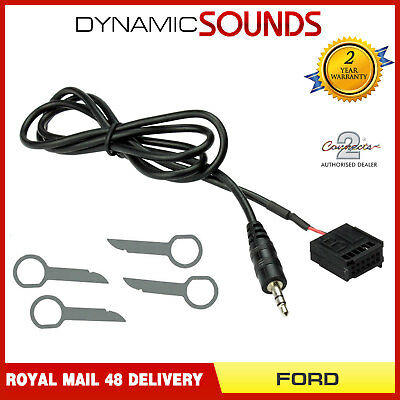 FORD Transit, Connect CD 6000 AUX MP3 iPod iPhone HTC Adaptor Lead & Free Pins
