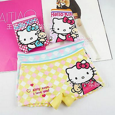 1pc Kids Girls Children Hello Kitty Underwear Pantie flat Undies Bottoms 2-8yrs