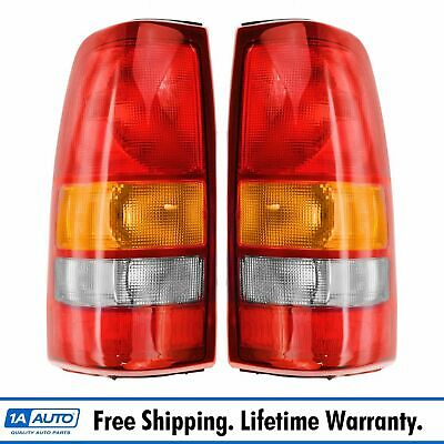 Rear Brake Taillight Taillamp Light Lamp LH & RH Pair Set for Silverado Sierra