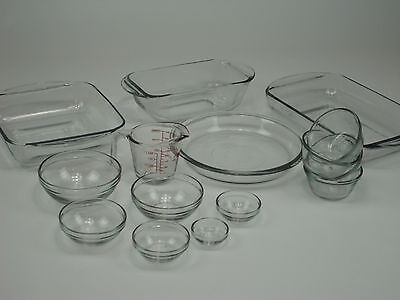 Anchor 15 Piece Glass Baking Dish Set Oven No Stain Cook Cake Bread Roast Viners
