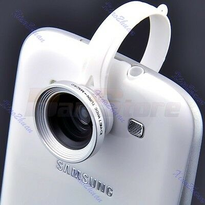 NEW Clip Wide Fish Eye Macro Lens 180°Detachable For iPhone Galaxy HTC