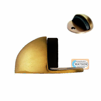 CARLISLE BRASS AA20 Polished Brass Oval Floor Door Stop 48mm x 45mm Doorstop