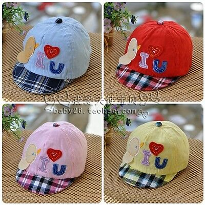 Boy Girl Kids Baby Children Cute Duckling duck Golf Soft Cotton Hat Cap Beanie