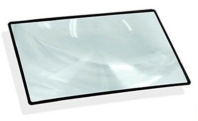 5 x 7 Inch Magnifier with Black Frame - 3X Magnification Fresnel Lens